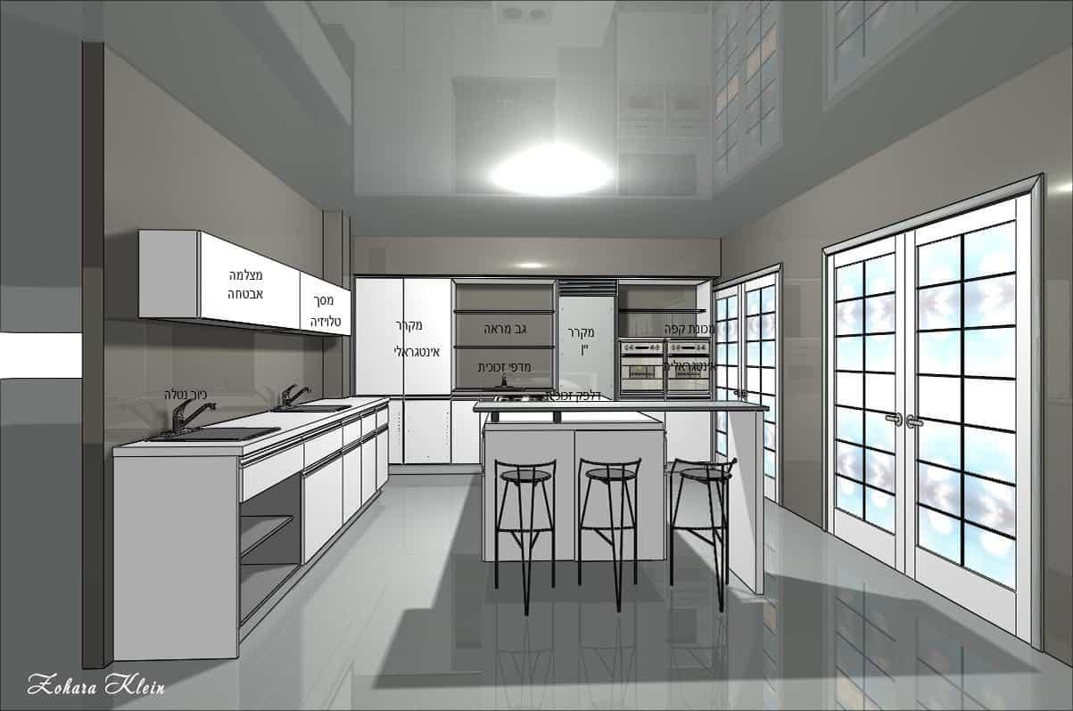 עיצוב מטבחים יוקרתיים במגדלי שרונה תל אביב