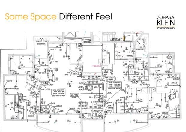 תכנון תאורה ובית חכם – חיבור 2 דירות לדירת יוקרה מעוצבת ומרווחת