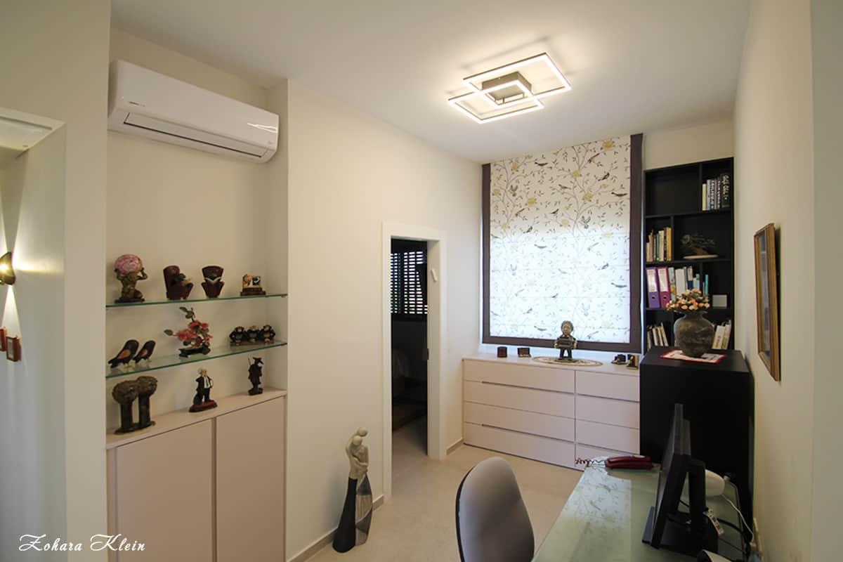 עיצוב חדר מחשב בדירה באווירה אחרת