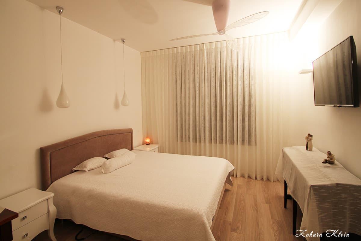 חדר שינה רומנטי עיצוב פנים דירה