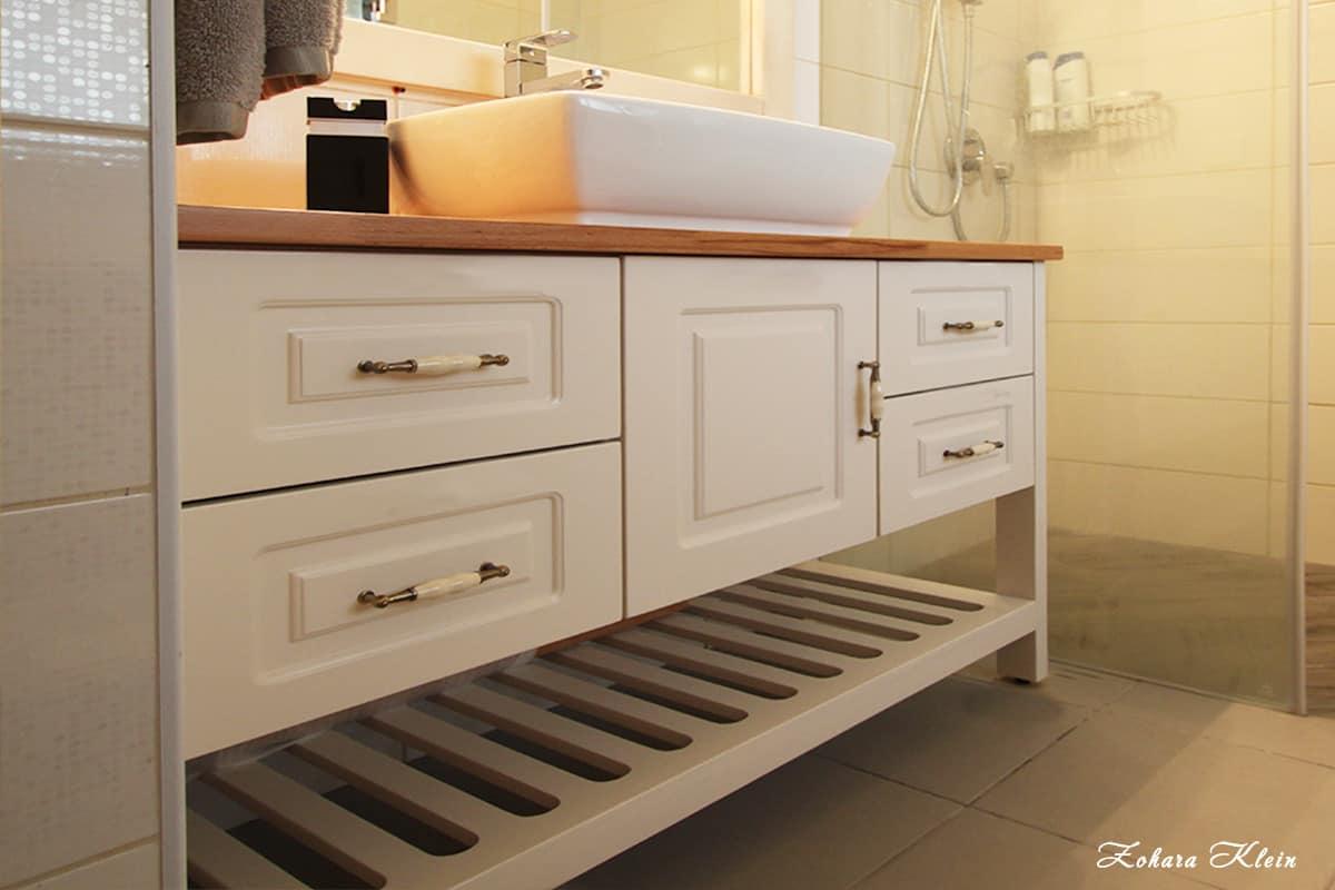 עיצוב ארון אמבטיה בחדר רחצה