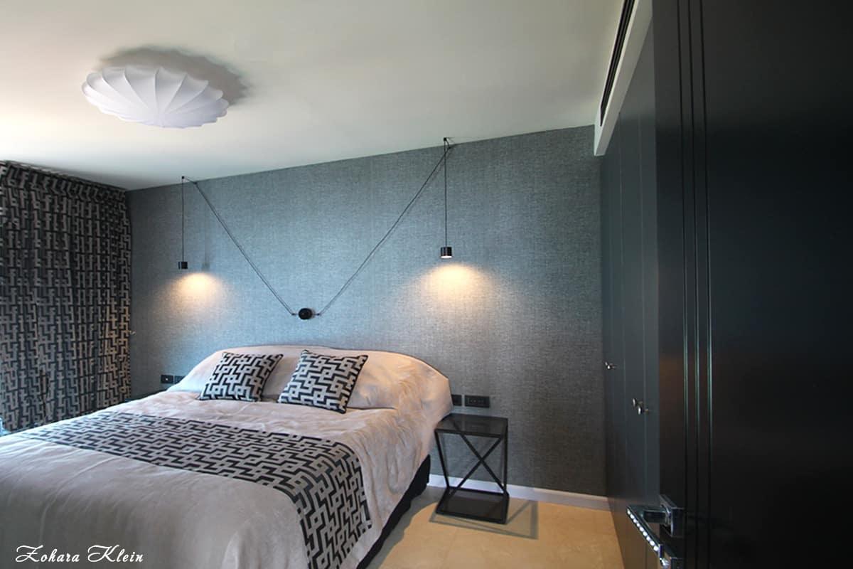 עיצוב תאורה חדר שינה