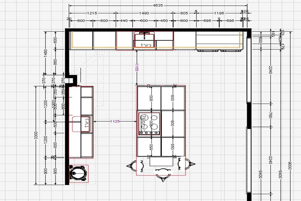 עיצוב מטבחים בשילוב הנדסת אנוש - תכנון מטבח מודרני