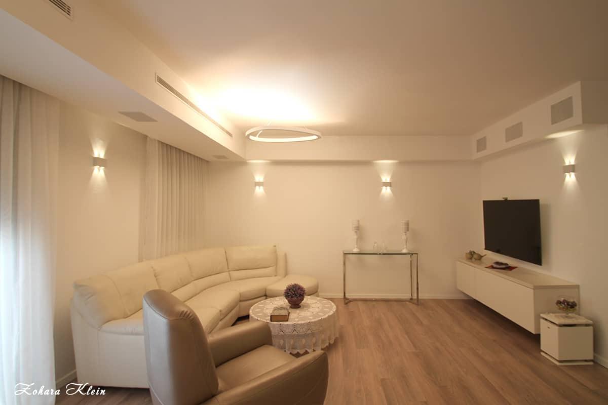 עיצוב פנים בלבן - עיצוב מנימליסטי בדירת יוקרה בהוד השרון