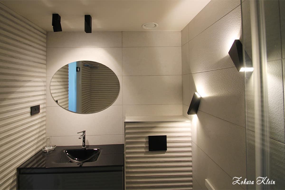 עיצוב חדר רחצה ושילוב תאורה