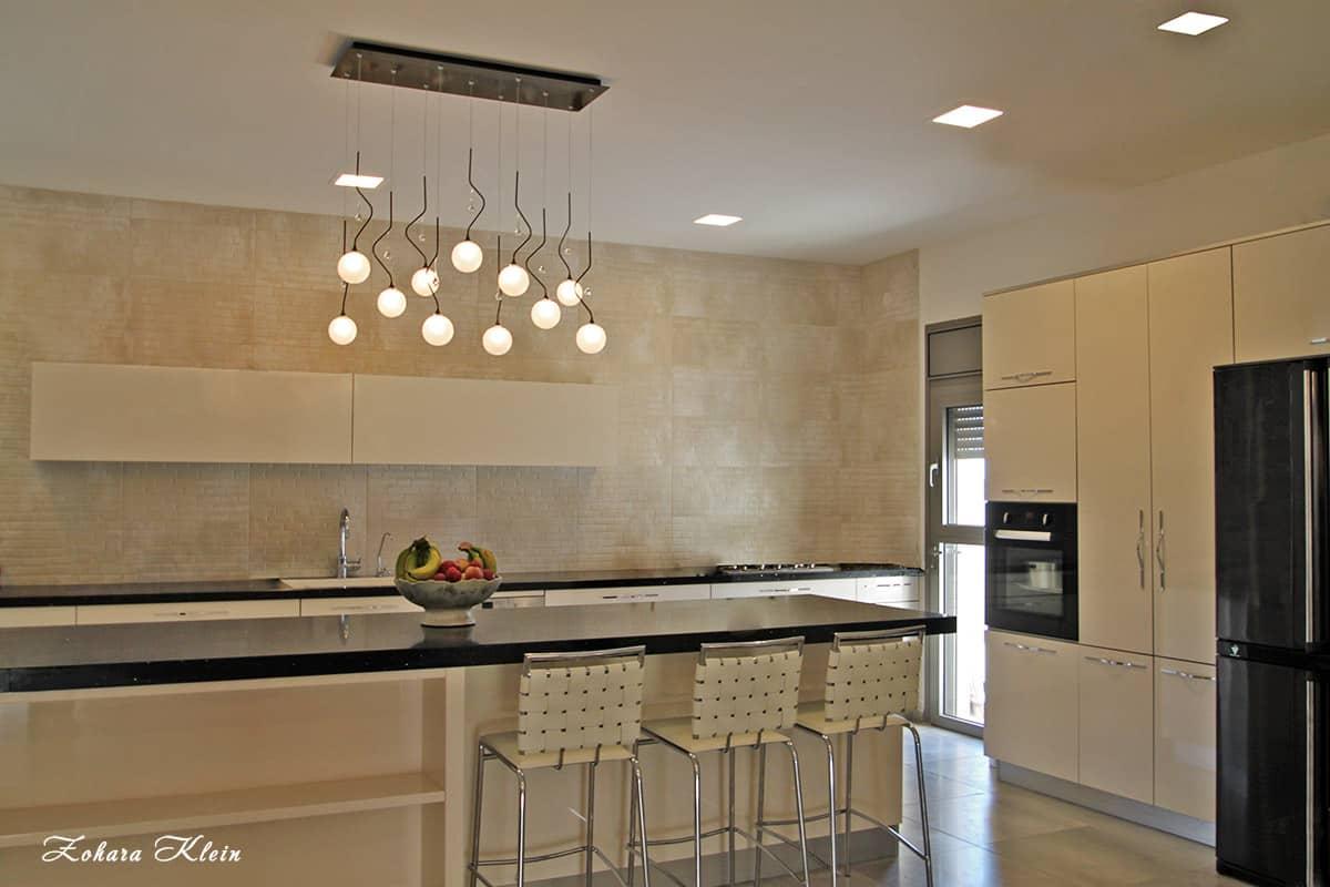 עיצוב תאורה ועיצוב מטבח בפנטהאוז בחולון