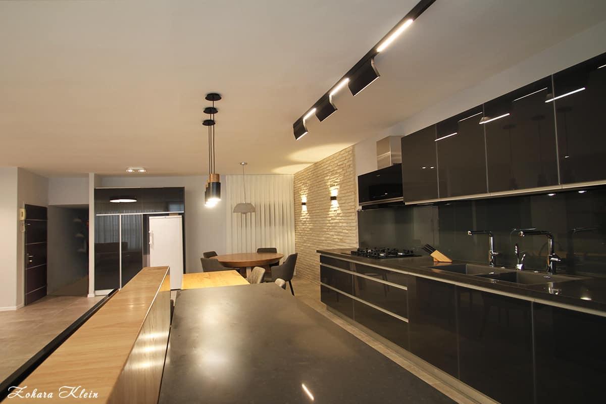 עיצוב תאורה באזור המטבח