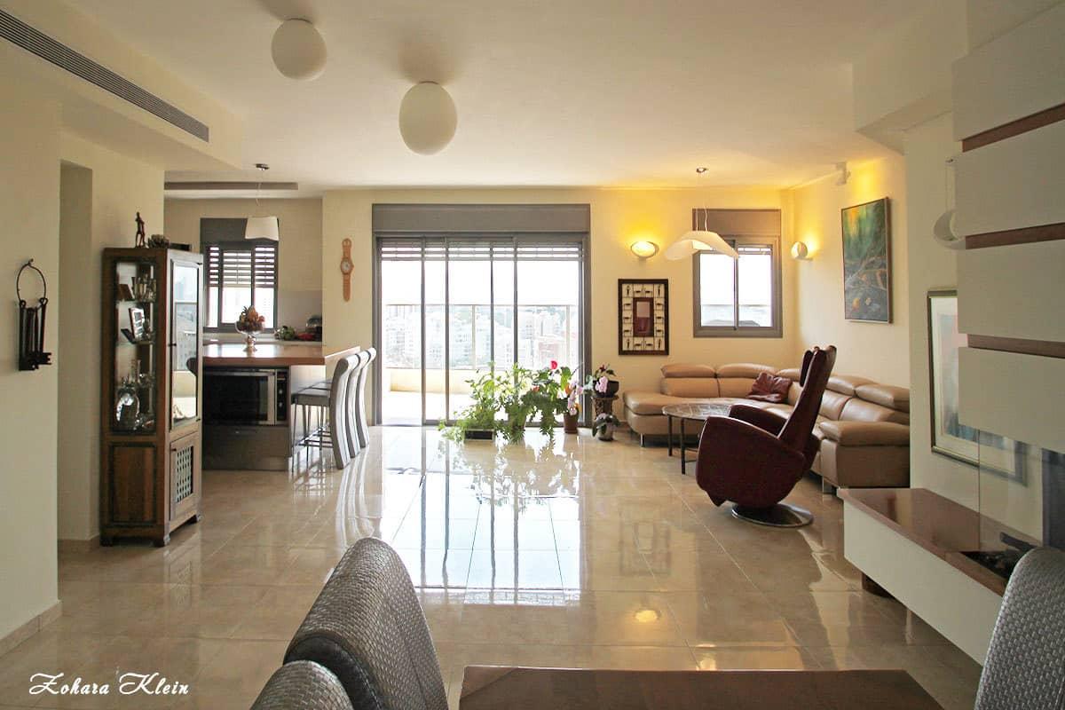 עיצוב תאורה בדירה יוקרתית בתל אביב