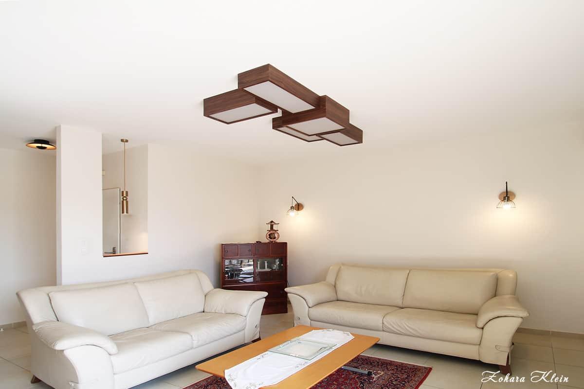 תאורה לסלון והתאמתה לרהיטי הסלון