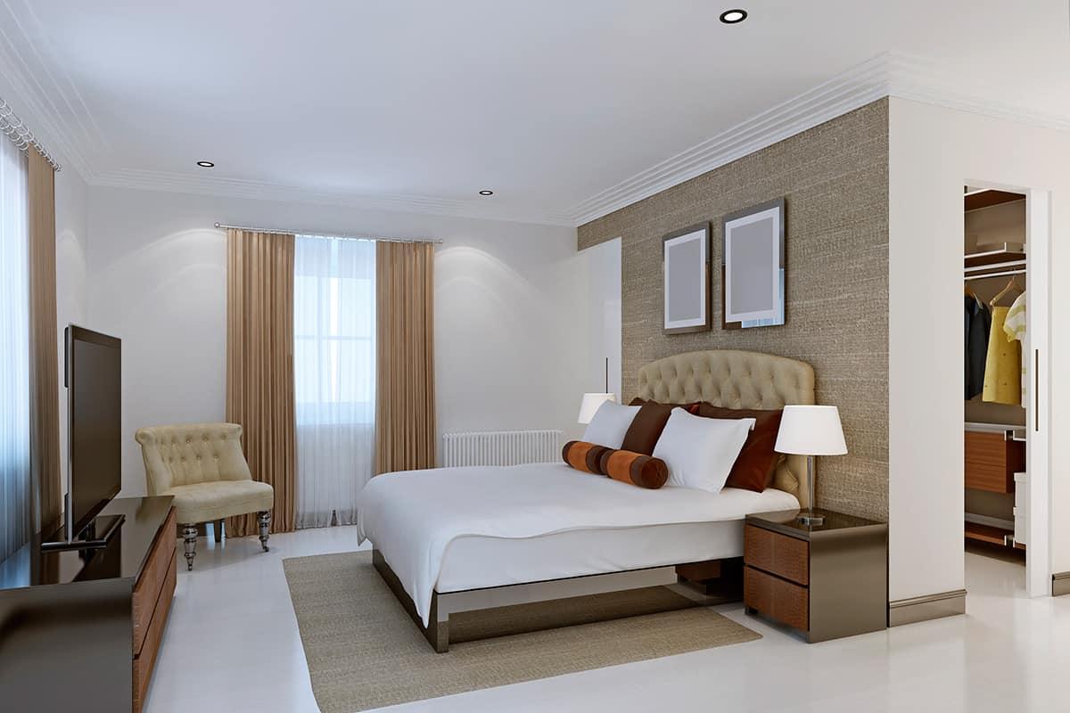 עיצוב חדר שינה מודרני יוקרתי