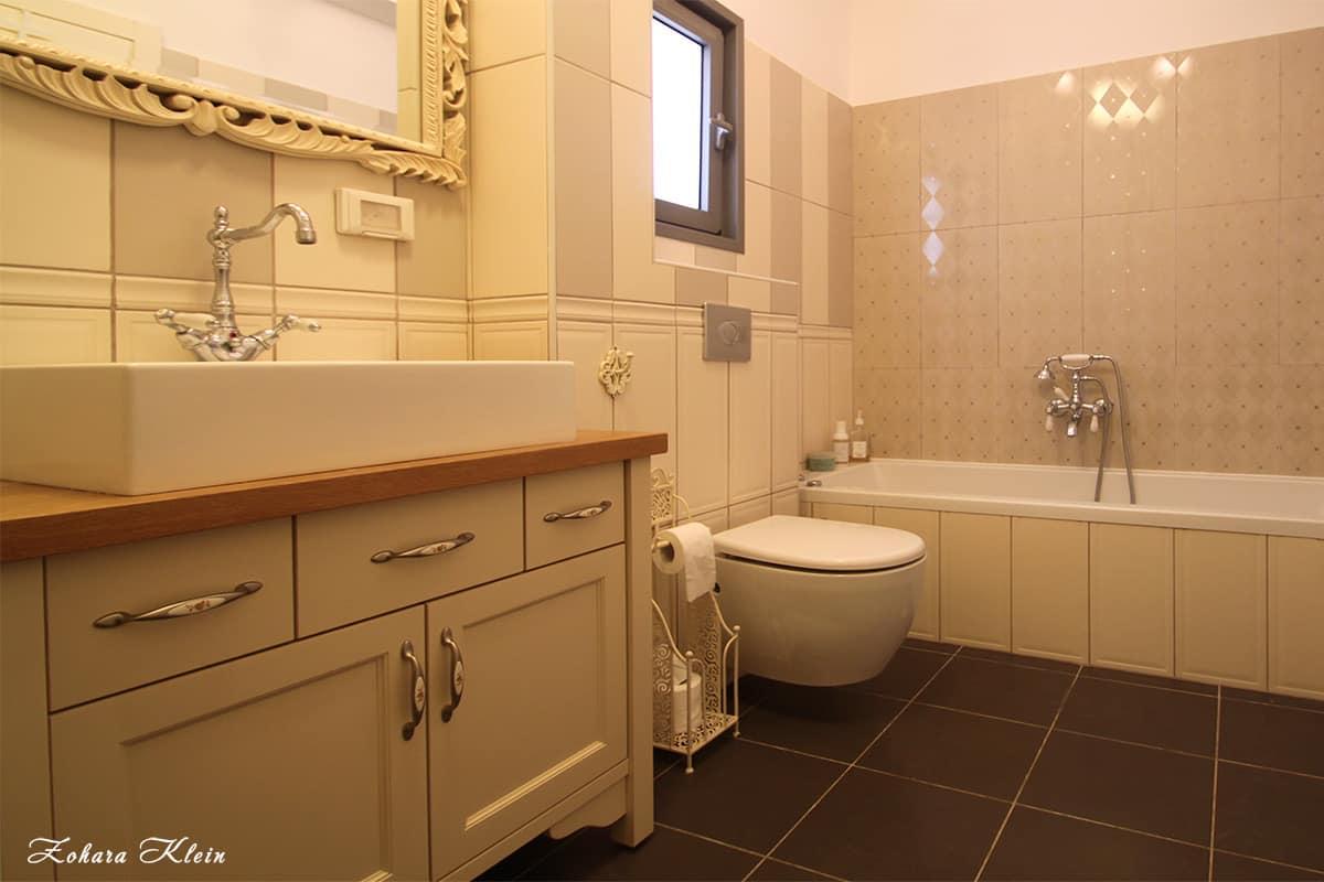עיצוב פנים חדרי אמבטיה - סגנון פרובנס לייט