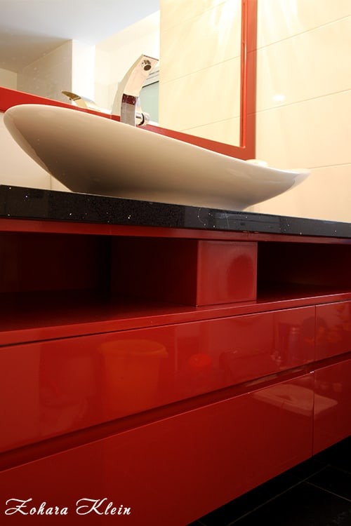 עיצוב ארון אמבטיה בחדר רחצה מודרני