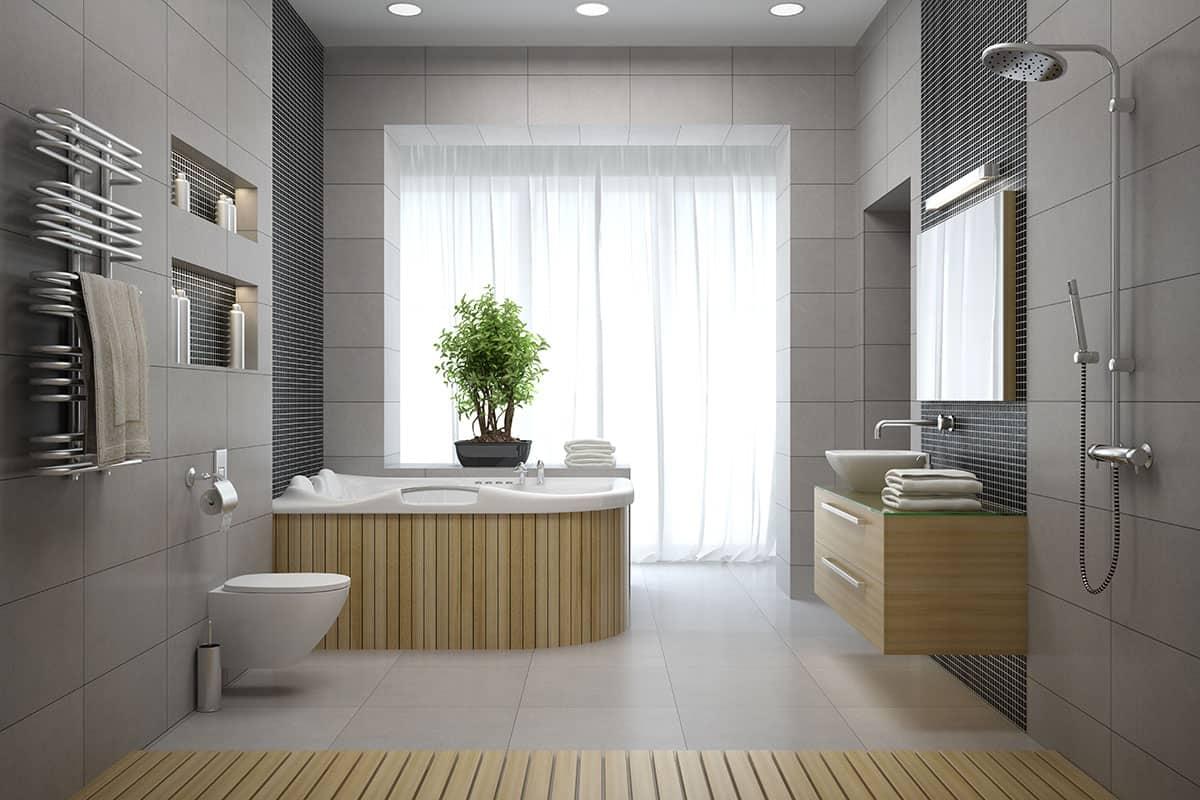 עיצוב חדר רחצה בדירת קבלן