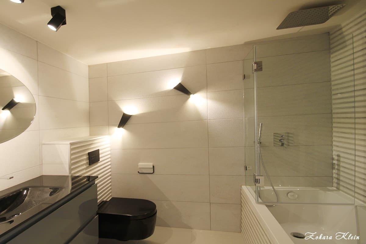 עיצוב חדר רחצה מעוצב במלון כרמל