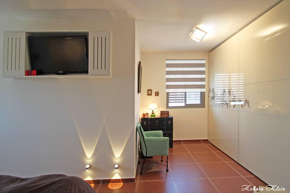 תאורה לחדר שינה בשדרוג דירה