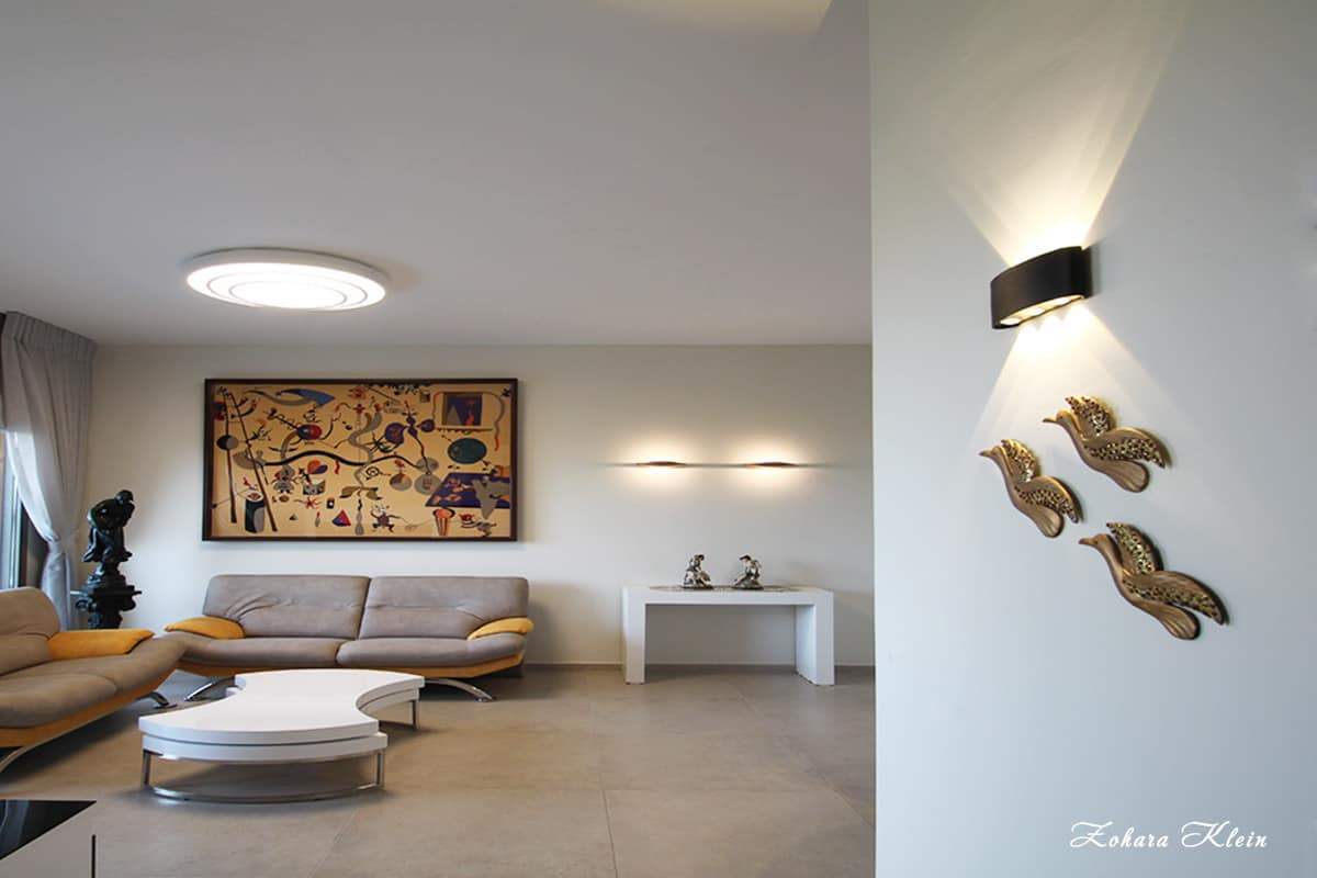 עיצוב תאורה דירה מקבלן