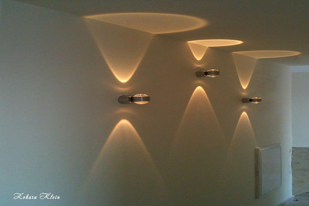 עיצוב תאורה מסדרון והצללה